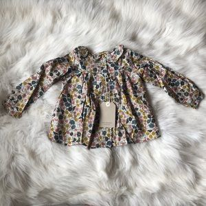 3/$15 Zara Baby | Floral Blouse 12-18M